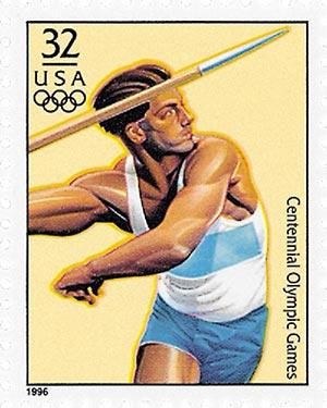 1996 32c Olympic Decathlon,single