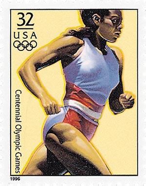 1996 32c Olympic Women's Running,single