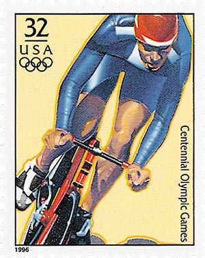 1996 32c Olympic Men's Cycling,single