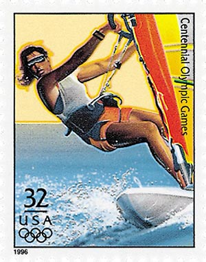 1996 32c Olympic Games: Women's Sailboarding