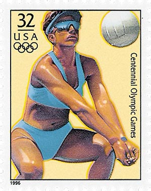 1996 32c Olympic Games: Beach Volleyball