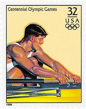 1996 32c Olympic Games: Men's Rowing