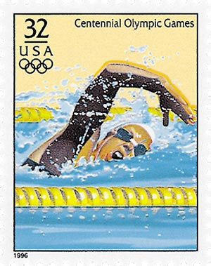 1996 32c Olympic Games: Women's Swimming