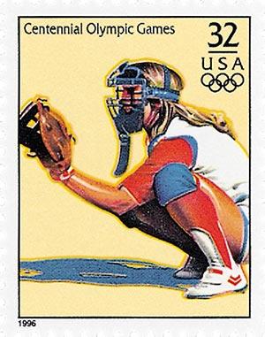1996 32c Olympic Games: Womens Softball