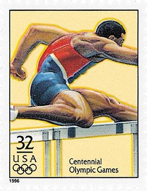 1996 32c Olympic Games: Mens Hurdles