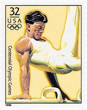 1996 32c Olympic Games: Mens Gymnastics