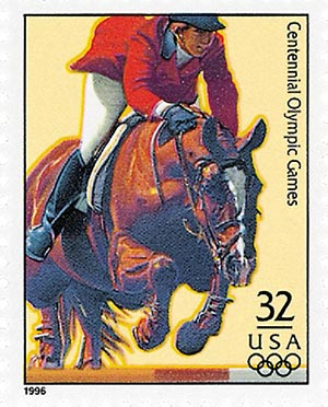 1996 32c Olympic Games: Equestrian