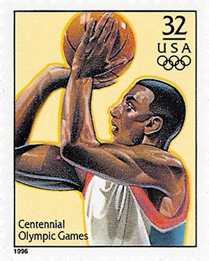 1996 32c Olympic Games: Men's Basketball