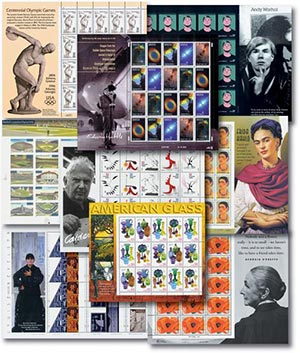 1996-2002 Small Panes, collection of 9 sheets
