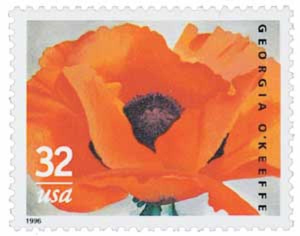 1996 32c Georgia OKeeffe