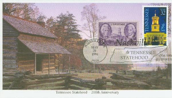 1996 32c Tennessee & 3c Tenn. Statehood