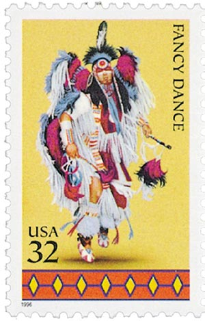 1996 32c American Indian Dances: Fancy Dance