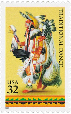 1996 32c American Indian Dances: Traditional Dance