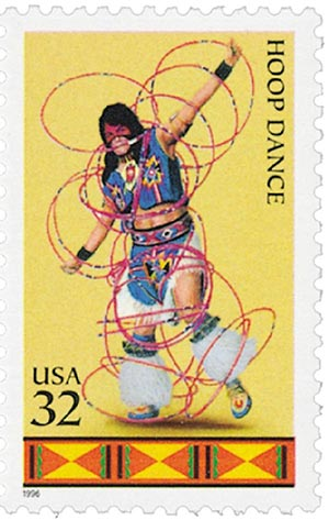 1996 32c American Indian Dances: Hoop Dance