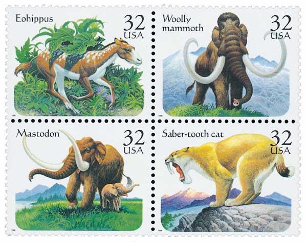 1996 32c Prehistoric Animals