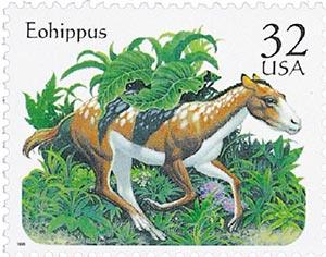 1996 32c Prehistoric Animals: Eohippus