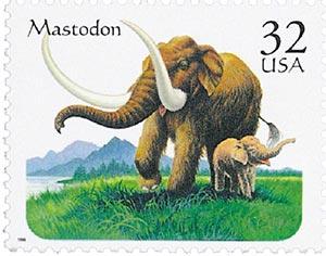 1996 32c Prehistoric Animals: Mastodon