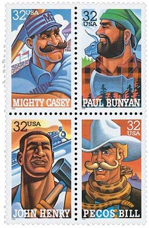 1996 32c Folk Heroes