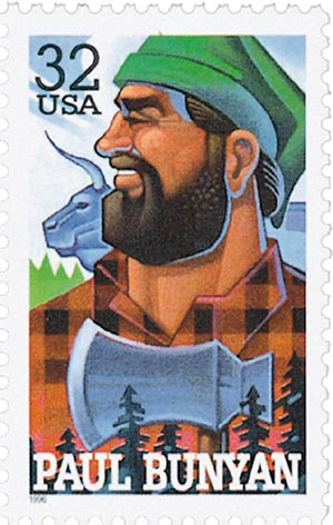 1996 32c Folk Heroes: Paul Bunyan