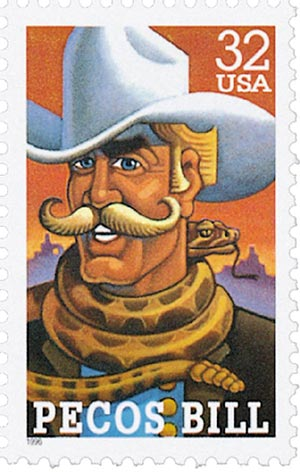 1996 32c Folk Heroes: Pecos Bill