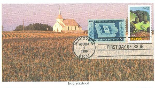 1996 32c Iowa Statehood & 3c Centennial