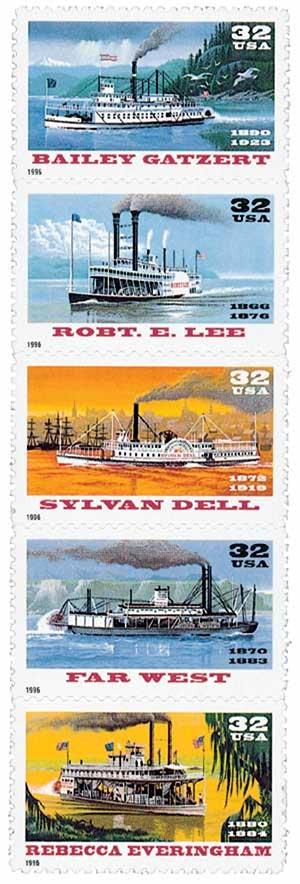 1996 32c Riverboats