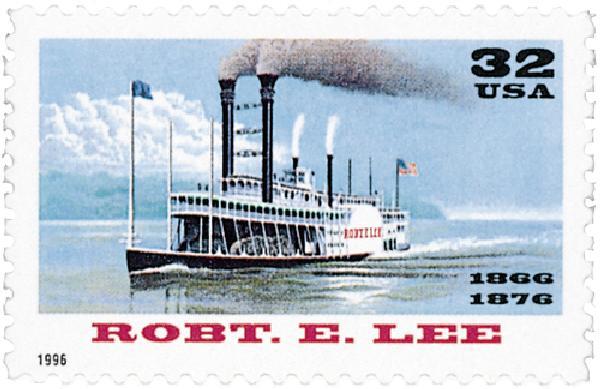 1996 32c Riverboats: Robert E. Lee