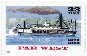 1996 32c Riverboats: Far West