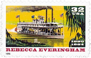 1996 32c Rebecca Everingham Riverboat