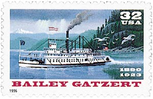 1996 32c Bailey Gatzert Riverboat