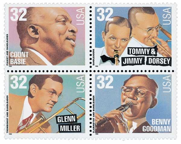 1996 32c Big Band Leaders For Sale At Mystic Stamp Company