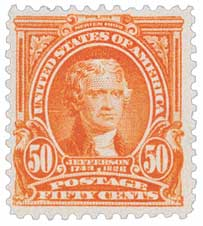 1903 50c Jefferson, orange