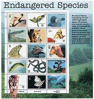 1996 32c Endangered Species