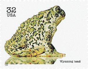 1996 32c Endangered Species: Wyoming Toad