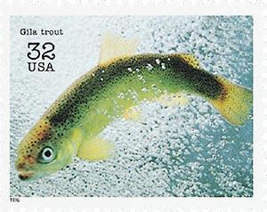 1996 32c Endangered Species: Gila Trout