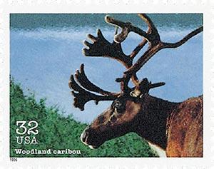 1996 32c Endangered Species: Woodland Caribou