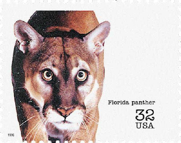 1996 32c Endangered Species: Florida Panther