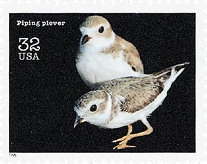 1996 32c Endangered Species: Piping Plover