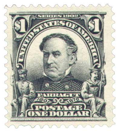 1903 $1 Farragut, black