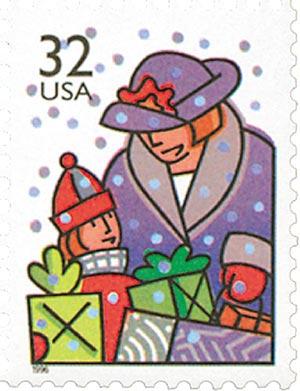 1996 32c Contemporary Christmas: Holiday Shopping