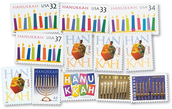 1996-2016 Hanukkah Stamps, 12v