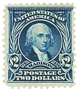 1903 $2 Madison, dark blue
