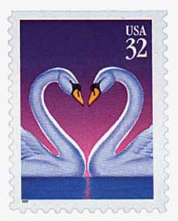 1997 32c Swans Self-adhesive / Single