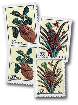 1997 Merian Botanicals, set of 4 stamps