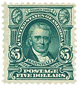 1903 $5 Marshall, dark green