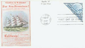 1997 32c Pacific 97 Clipper MS FDC