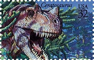 1997 32c Dinosaurs - Ceratosaurus