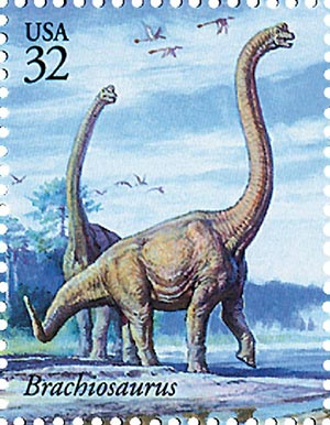 1997 32c Dinosaurs: Brachiosaurus