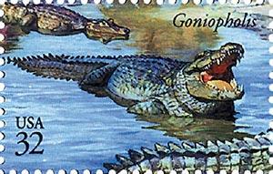 1997 32c Dinosaurs: Goniopholis