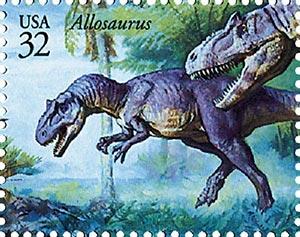 1997 32c Dinosaurs: Allosaurus